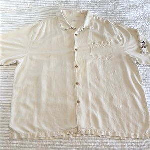 Tommy Bahama Disney Parks Micky Mouse Shirt-Cream